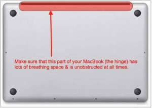 prevent macbook from getting too hot