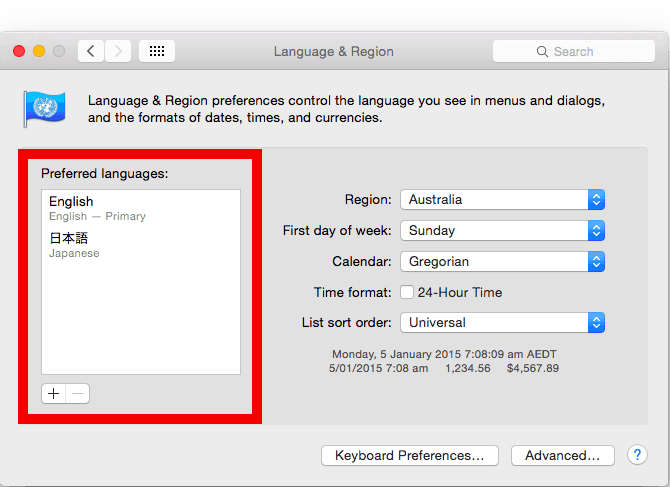 how to enable japanese characters on macbook