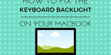 how to fix broken macbook keyboard backlight