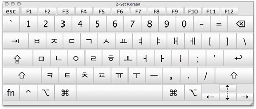 how to type korean characters on mac
